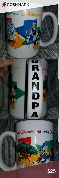 """Walt Disney Parks """"GRANDPA"""" mug Walt Disney Parks """"GRANDPA"""" mug ONE PARK, ONE WORLD Disney Other"""