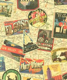 Chic Vintage Classic Old Newspaper Map Retro Wallpaper Hollywood Bar Shop Travel