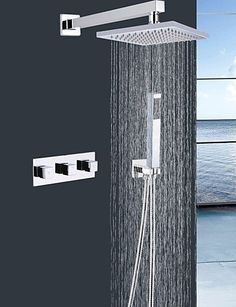 BBSLT Contemporary Shower Faucet with 8 inch Shower head  Hand Shower -- AMAZON BEST BUY   #HandheldMixers