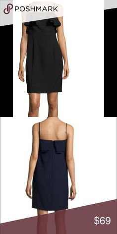 Karl Lagerfeld Black ruffle dress Worn once and dry cleaned. In perfect condition. Size 6 Karl Lagerfeld Dresses