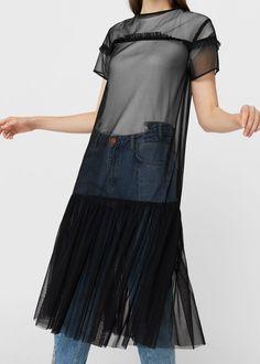 Tulle dress - Dresses for Woman   MANGO USA