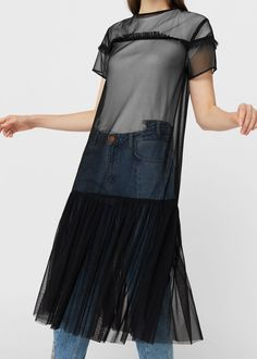 Tulle dress - Dresses for Woman | MANGO USA