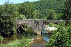 """Pont sur le Tarn, Florac - France """"Aurillac, Vitré, Aulnay, Orly"""""""