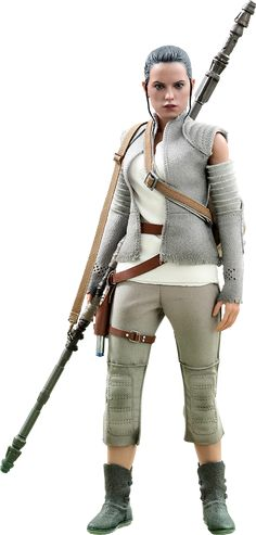 Star Wars The Force Awakens Rey (Resistance outfit) figure by Hot Toys