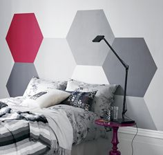 Geometric walls painted 2
