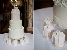 elegant white wedding cake, image by Mark Newton Weddings