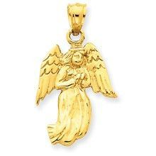 Polished Angel Charm in 14k Gold