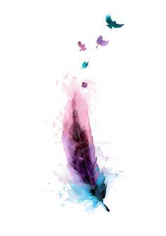 """Résultat de recherche d'images pour """"water color feather"""""""