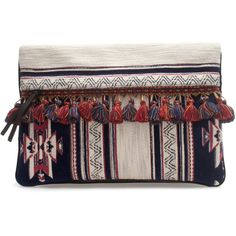 Zara Ethnic Clutch Bag ($90) found on Polyvore        NEED
