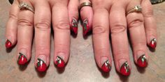 My Nails that my FABULOUSLY TALENTED nail artist created today!!!  No stencils here baby!!!