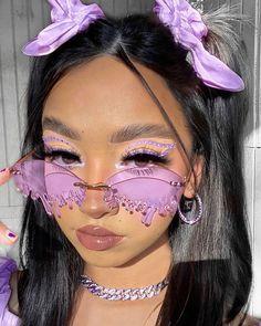 Cute Makeup Looks, Makeup Eye Looks, Eye Makeup Art, Pretty Makeup, Beauty Makeup, Indie Makeup, Edgy Makeup, Aesthetic Hair, Aesthetic Makeup
