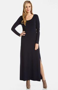 Karen Kane Long Sleeve Jersey Maxi Dress