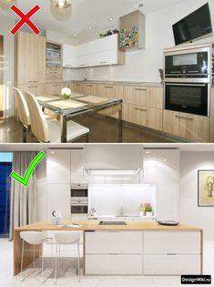 Пропорция белого и дерева на кухне Kitchen Room Design, Interior Design Kitchen, Kitchen Decor, Home Decor Furniture, Kitchen Furniture, Dessert Design, My Home Design, Home Decor Accessories, Home Kitchens