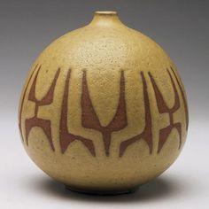 Ceramic artist Clyde Burt (1922-1981), American. Vase
