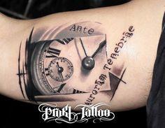 Τατουάζ ρολόι / οφθαλμαπάτη - Illusion / clock tattoo