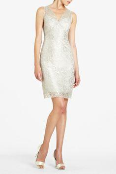 BCBG Metallic Lace Cocktail Dress $198.00 #Dresses
