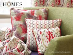 Add vibrancy to your life & #Home with Elegant #Embroidery #Collection by #HomesFurnishings. Explore more on www.homesfurnishings.com #HomeDecor #HomeFabrics #Cushions #Furnishings #EmbroideryCollection