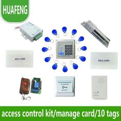 80.00$  Watch more here - http://aig3r.worlditems.win/all/product.php?id=32369526565 - Access control kit,em/ ID keypad access control+ power+bolt lock +remote control +exit button +door bell +10 em cards,sn:em-001s