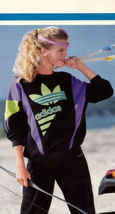 1980's - the beginning of workout clothes as everyday fashion....... bleh