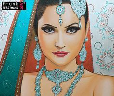 Indian Bride Painting Let Your Love Shine