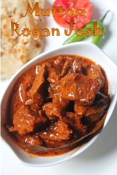I have heard about rogan josh before and tasted it in one of the restaurant i visited, but never thought of cooking it at home. Indian Chicken Recipes, Lamb Recipes, Veg Recipes, Curry Recipes, Easy Dinner Recipes, Indian Food Recipes, Cooking Recipes, Indian Foods, Kashmiri Recipes