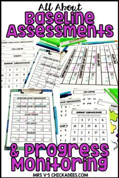 Kindergarten Baseline Assessment, data tracking forms and testing materials FOR ., EDUCATİON, Kindergarten Baseline Assessment, data tracking forms and testing materials FOR THE YEAR! Great for general education and special education for progre. Kindergarten Special Education, Kindergarten Assessment, Math Assessment, Special Education Teacher, In Kindergarten, Elementary Special Education, Special Education Organization, Resource Room Teacher, Primary Education
