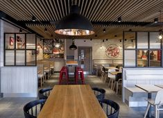 """Fast-food restaurant chain KFC is launching a radical new design concept, which it says represents """"the future of interior design for KFC""""."""
