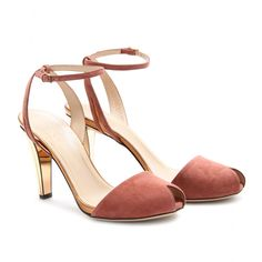 Perfect, beautilful shoes! Gucci - SUEDE PEEP-TOES - mytheresa.com