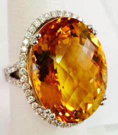 Gorgeous Citrine and Diamond Ring!