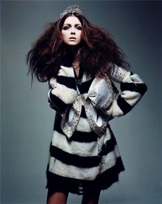 """Grunge Couture"" | Model: Morgane Dubled, Photographer: Craig McDean, Vogue Paris, March 2004"