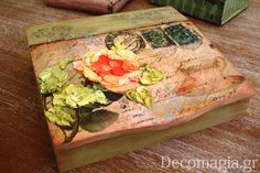 Box with decoupage and 3D technic Dolce Tridico~Κουτί με decoupage και την τρισδιάστατη τεχνική Dolce Tridico