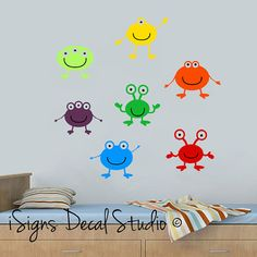 Hey, I found this really awesome Etsy listing at https://www.etsy.com/listing/130784771/monster-alien-wall-decals-kids-wall