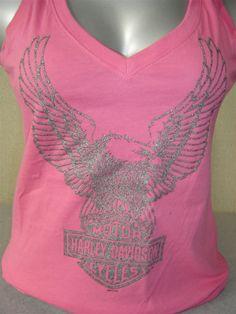 Pink Harley Davidson Logo | Harley Davidson Womens Lflamiingo Pink Energizer Tank