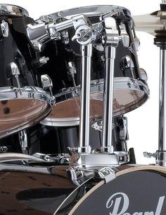 Rent to Own Pearl Export Drum Set with Zildjian Cymbals- Jet Black