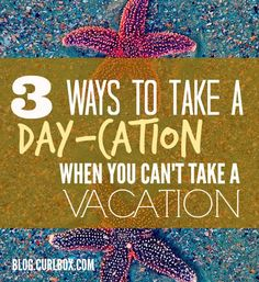 """On the blog! The summer's coming to a close, and though you may not be able to jet off to Milan, you can still sneak in a modified """"vacation."""" Here are three ideas. http://blog.curlbox.com/2015/08/07/3-ways-to-take-a-day-cation-when-you-cant-take-a-vacation/"""