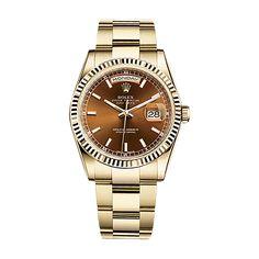 #Rolex Day-Date Gold #Watch (Cognac)