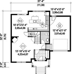 House Plan 52655 with 3 Bed, 2 Bath, 1 Car Garage Vestibule, Balcony Grill, Electrical Layout, Heating And Plumbing, Surface Habitable, 2 Story Houses, Apartment Plans, Small House Plans, Traditional Design