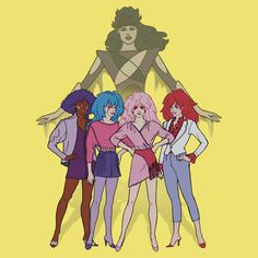 Jem+and+the+Holograms+-+Group+with+Synergy+-+Color
