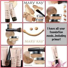 Choose from the numerous types of foundation to find the perfect one just for you. Go to www.marykay.com/marielag