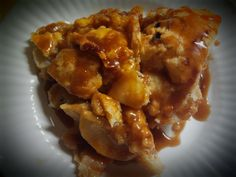 Pioneer Woman: Flat Apple Pie w Easy Caramel Sauce (Recipe on my Dessert Board)