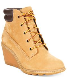 Timberland Women's Earthkeepers Amston Wedge Booties - Boots - Shoes - Macy's