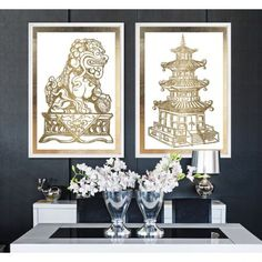 Pagoda Gold by Julianne Taylor - The Oliver Gal Artist Co