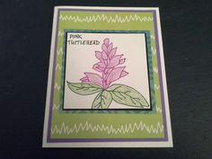 Gins wildflower card 841