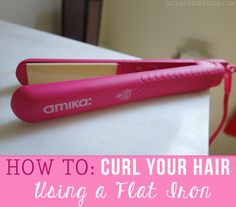 how to curl your hair with an Amika flat iron - Olive & Ivy