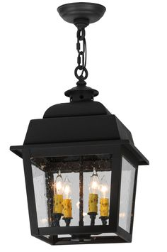 12 Inch Sq Stockwell Hanging Lantern Pendant. 12 Inch Sq Stockwell Hanging Lantern Pendant Theme:  MISSION LODGE Product Family:  Stockwell Product Type:  CEILING FIXTURE Product Application:  PENDANT Color:  WROUGHT IRON SPECTRUM CLEAR SEEDY Bulb Type: CNDL Bulb Quantity:  4 Bulb Wattage:  40 Product Dimensions:  22-36H x 17WPackage Dimensions:  NABoxed Weight:   lbsDim Weight:  NAOversized Shipping Reference:  NAIMPORTANT NOTE:  Every Meyda Tiffany item is a unique handcrafted work of...