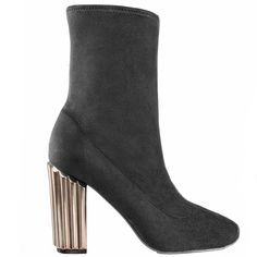Stretch suede bootie with a generous tubular heel pairs with all of your favorite looks, creating the perfect transitional silhouette. Soft Pointed Toe Glam Suede Upper Leather Lining Synthetic Outsole Zipper Entry Imported Nina Shoes, Suede Booties, Toe, Silhouette, Booty, Pairs, Zipper, Heels, Leather
