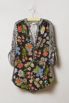 I like the offset of the different print. Lacona Popover - anthropologie.com #anthropologie #anthrofave