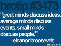 Great minds discuss ideas