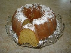 Cake Mix Banana Pound Cake - CDKitchen.com -  Pound cake made easy. It calls for yellow cake mix, vanilla pudding mix, mashed bananas and spices.