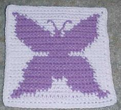 Row Count Butterfly Afghan Square Free Crochet Pattern